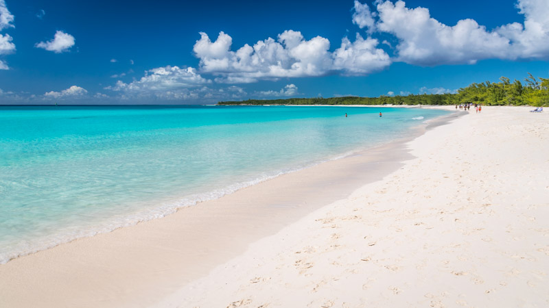 Nude beach in half moon cay