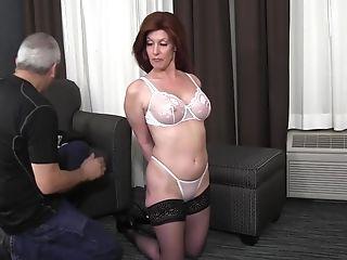 Bound breasts bondage tied tits