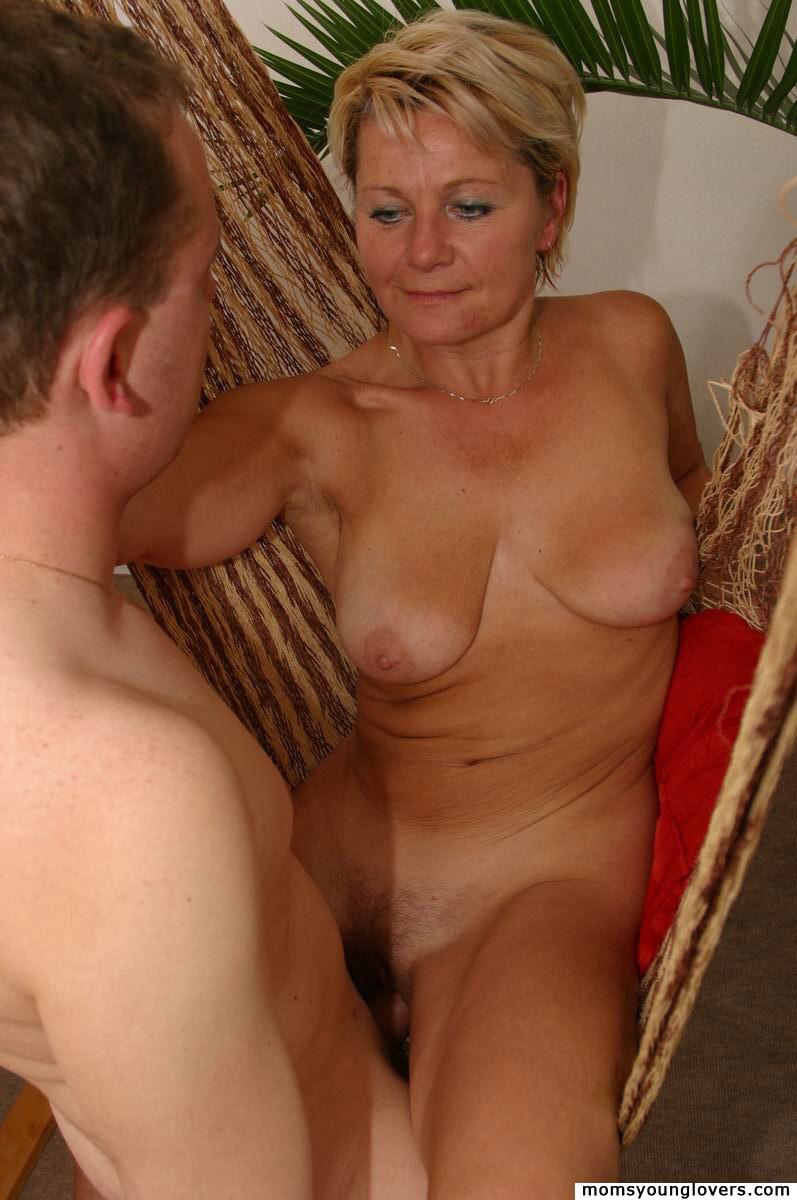 Blonde milf with boy sex