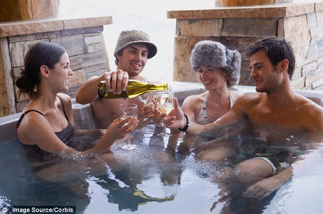 Hot tub sex party