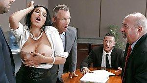 Sex at work blowjob