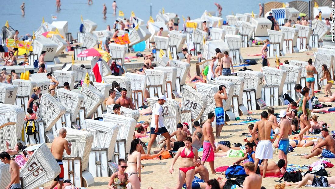 Nude at public beach