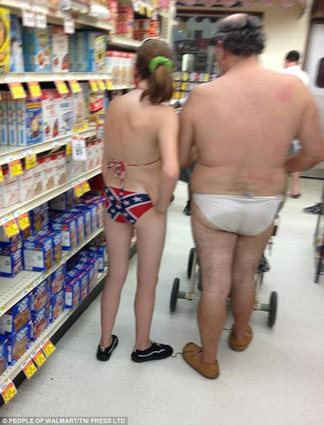 Naked nude people at walmart