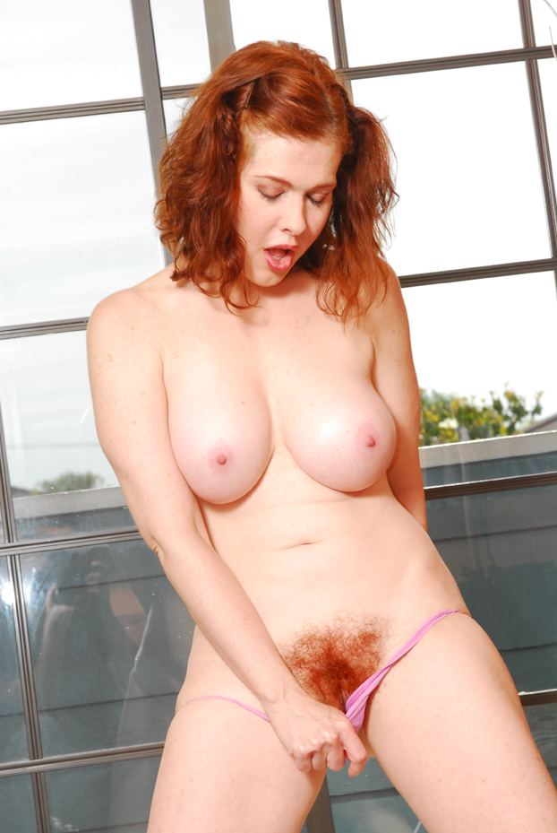 Redhead hairy pussy bush