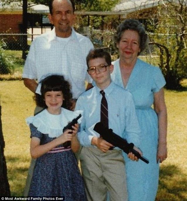Junior retro nudist family