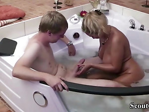 Porn sex home bathroom tub