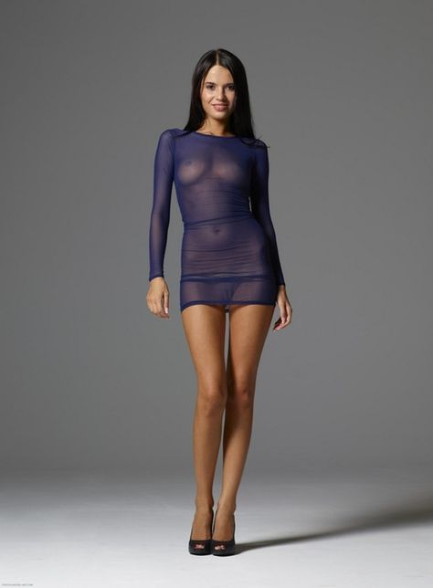 Women in see through dresses