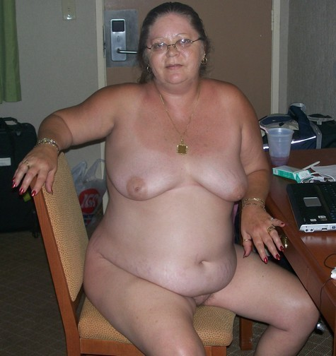 Ugly fat naked old women