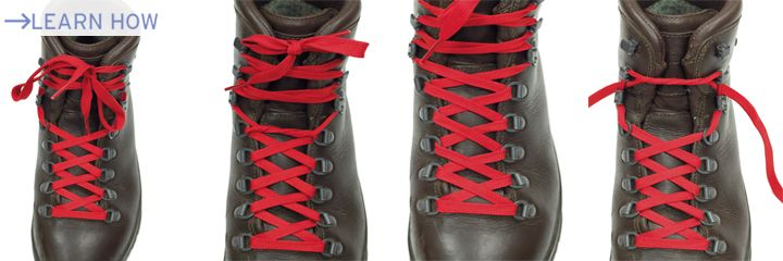Heel lock lacing boots