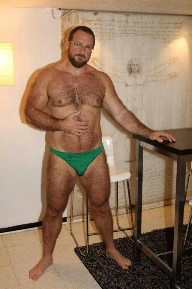 Hairy naked big men