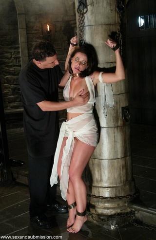 Captured naked girls rough sex