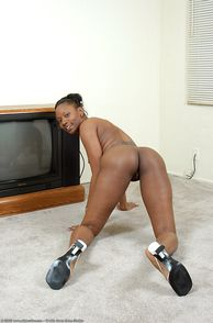 Nude black girls on all fours