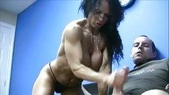 Big fake tits milf handjob