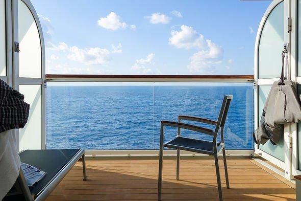 Cruise ship balcony nude