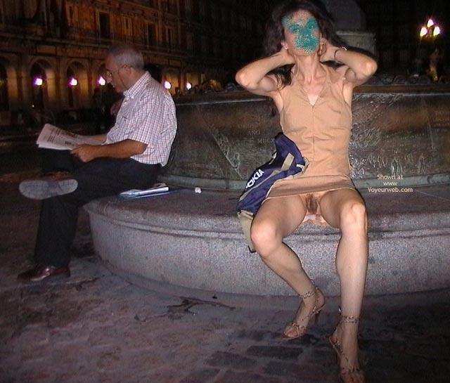 Public no panties oops