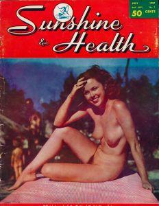 Vintage nudism american indian theme