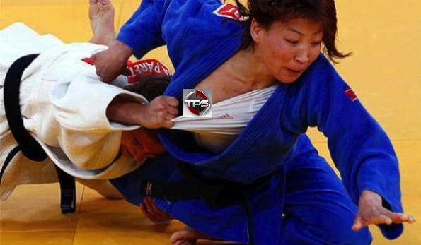 Olympic judo nip slip