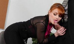 Boy licking girl pussy