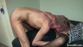 Big tit milf seduces couple