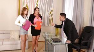 Busty big tit secretary