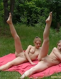 Naked girls forest group