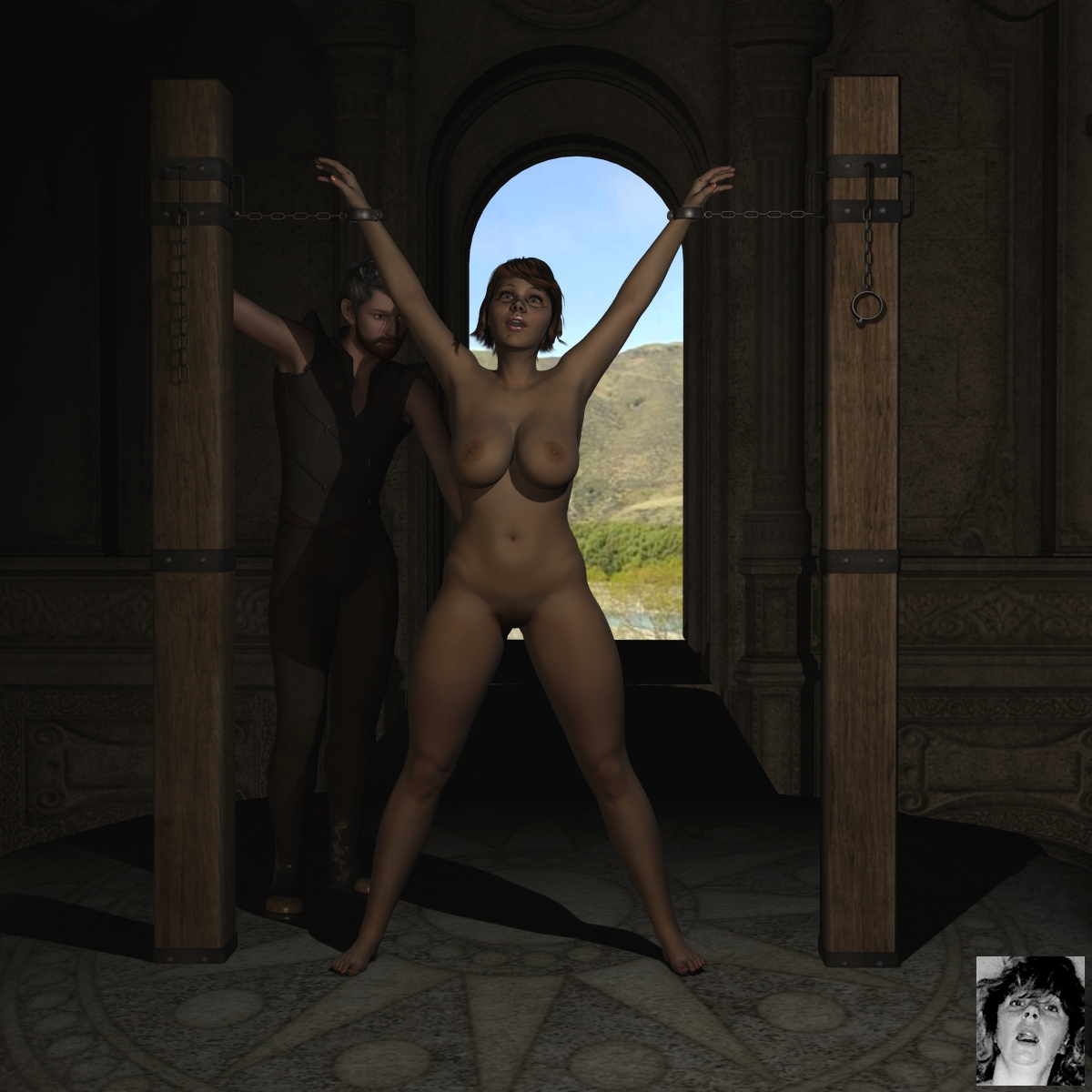 Nude girl torture rack