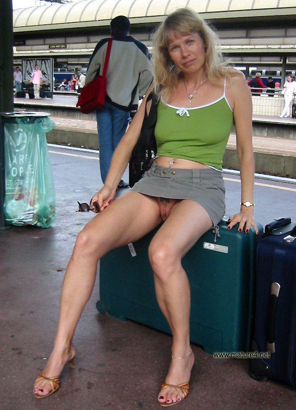 Public nude mature women