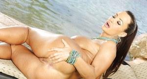 Nude girl beach towel