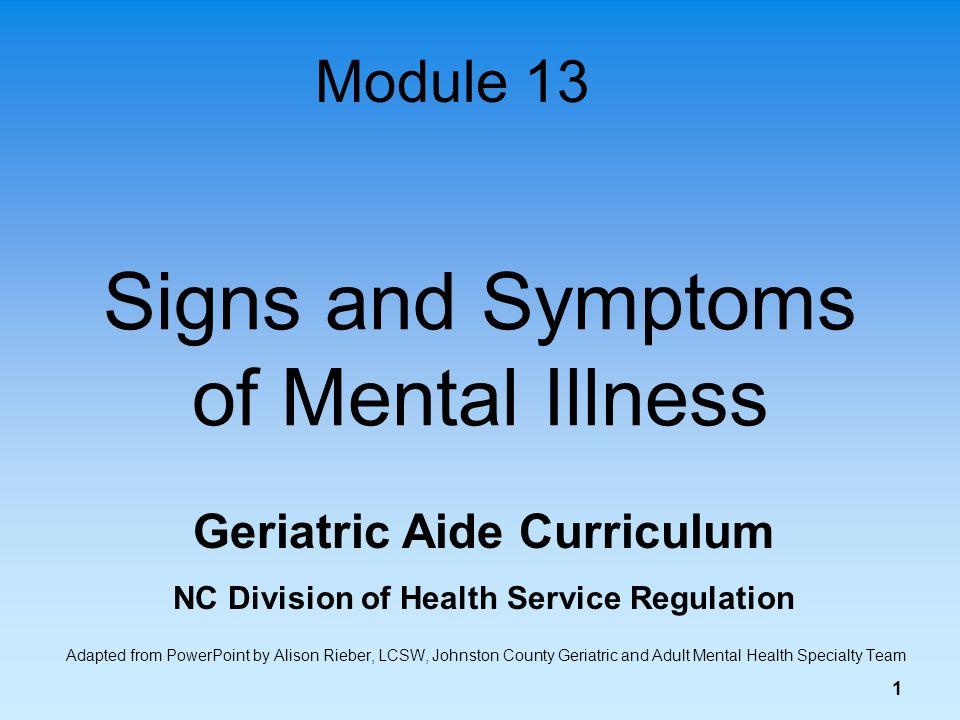 Symptoms mental disorders adults