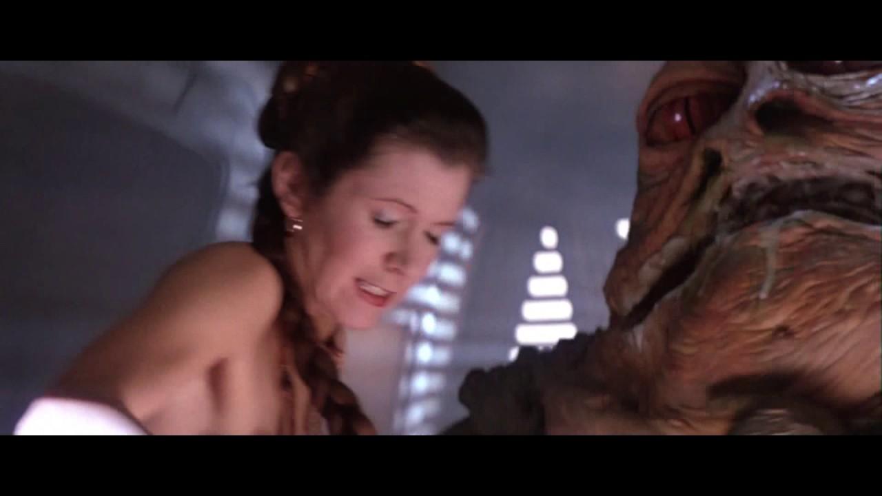 Naked star wars leia jabba