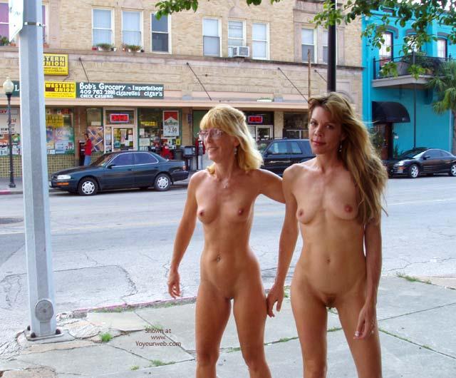 Girls walking nude in public