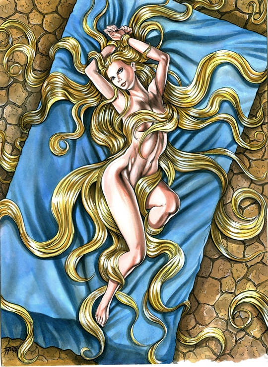 Tangled rapunzel is hot and sexy nude