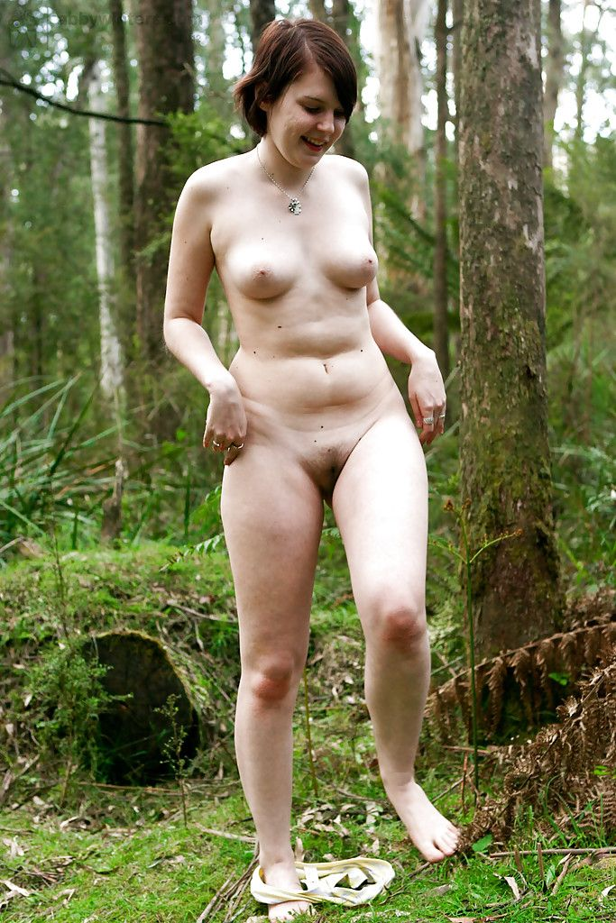 Naked amateur girls outdoors