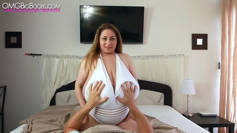 Girl with big tits felt up