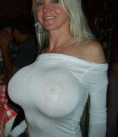 Big tits tight shirt wet
