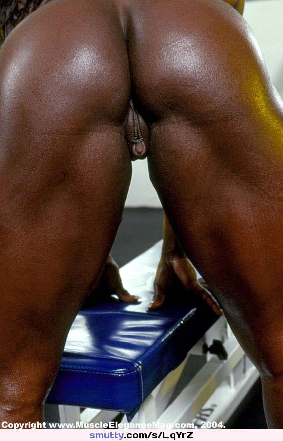 Black muscle nude buttocks