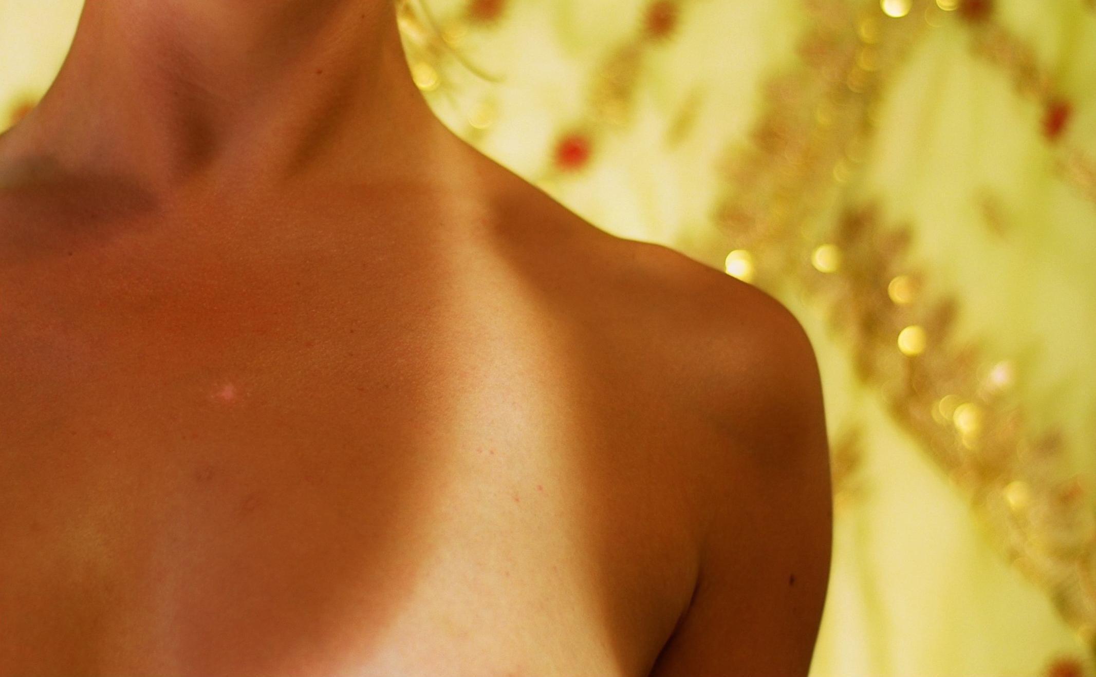 Tanning bed white strip
