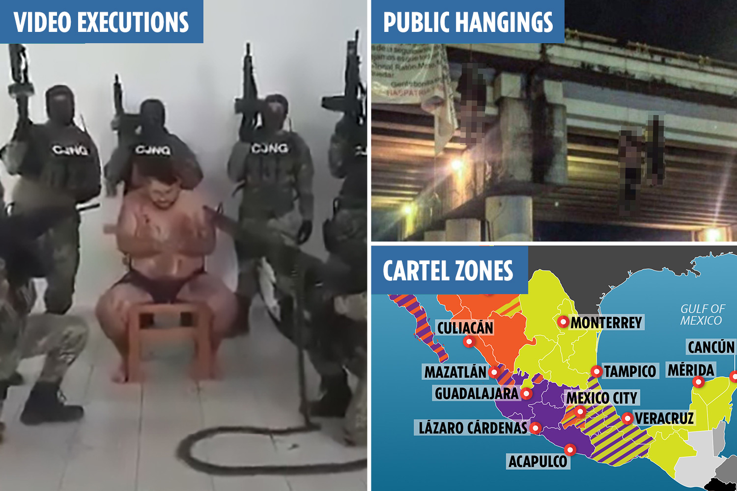 Women tortured by mexican drug cartel
