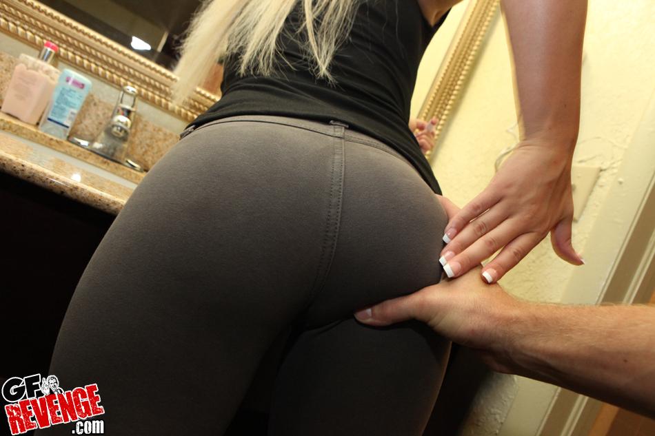 Girls in yoga pants having sex