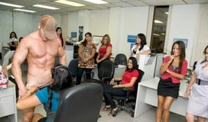 Muscle worship massage and handjob