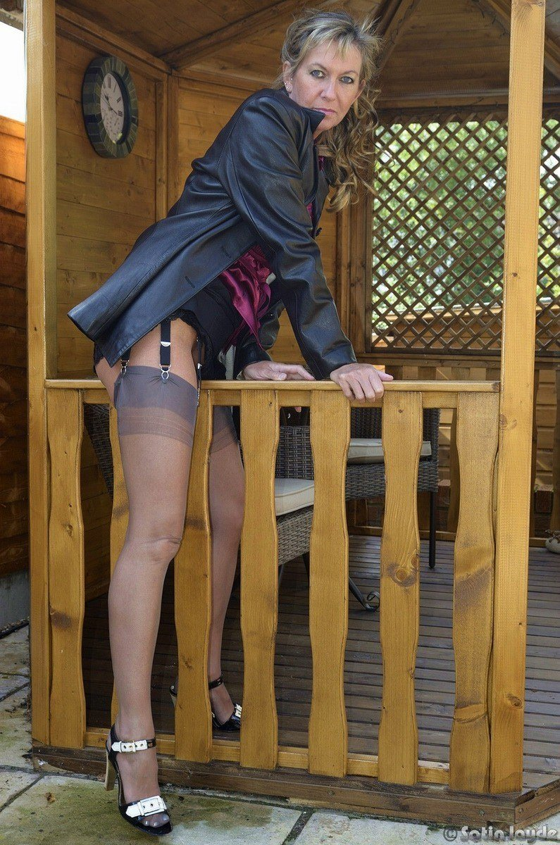Pantyhose nylons stockings outdoor