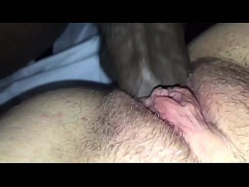Close up black cock in white pussy