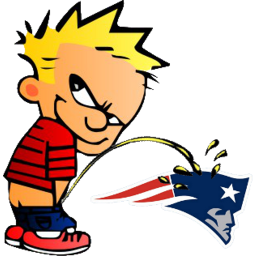 Giants peeing on patriots helmet cartoon