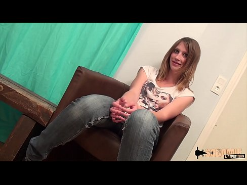 Pantyhose blonde teen with braces