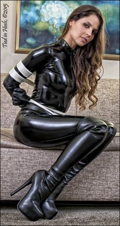 Sexy women tied up in latex