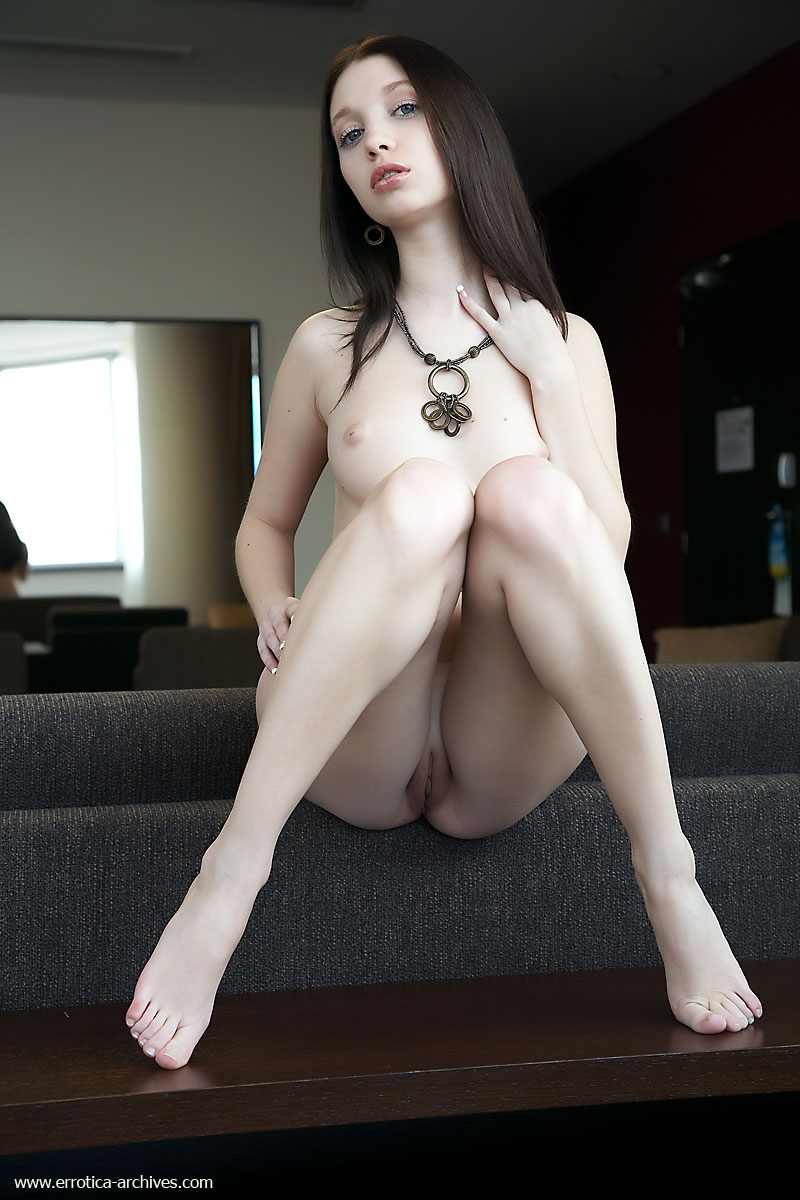 Pale white girl shaved pussy image