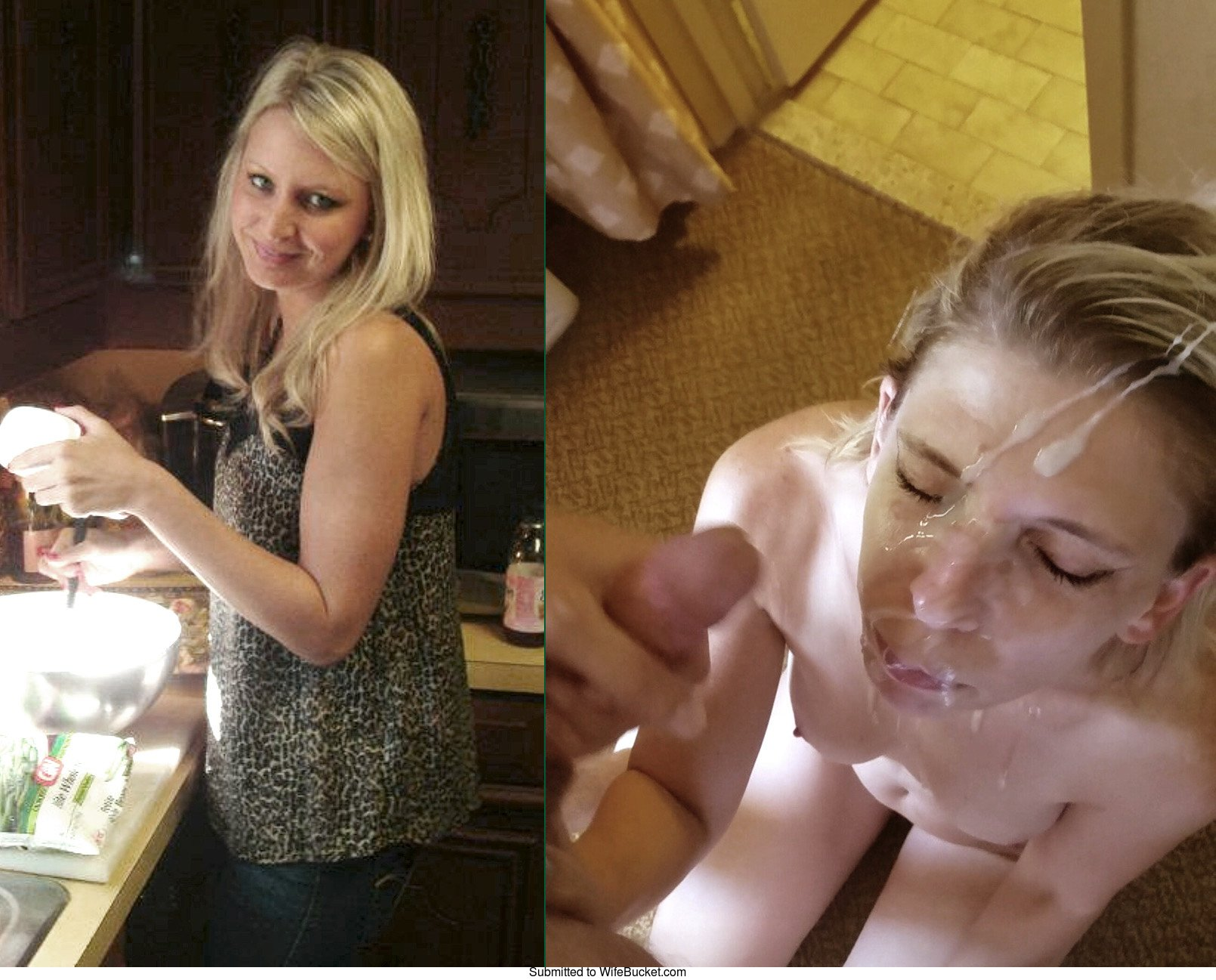 Naked wife before and after cum shot