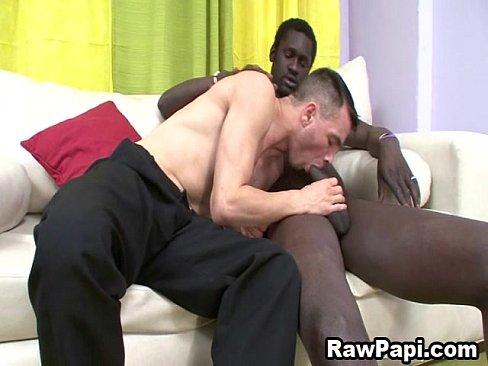 Latino sucks black cock