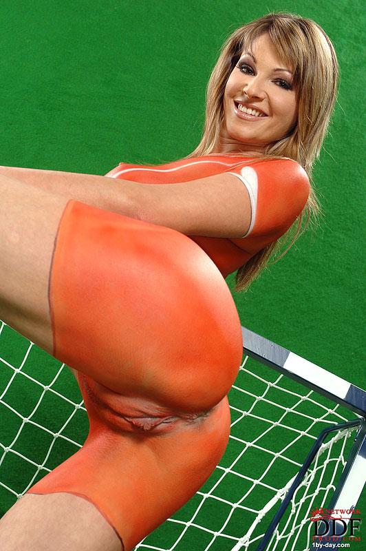 Painted football girls nude