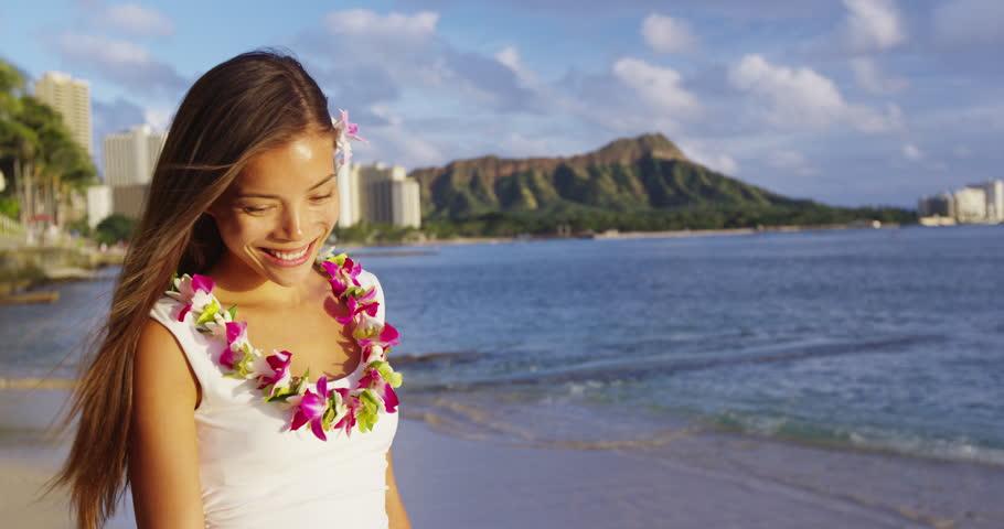 Hawaiian cute asian girls